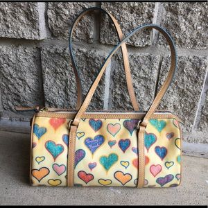 Dooney and Bourke — Rainbow zipper rounded purse!
